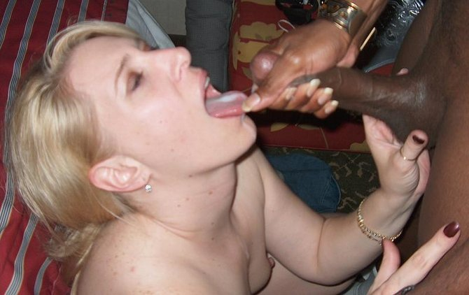 White Woman Fucks Black Cock